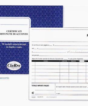 Blocco certificati ritenute di acconto